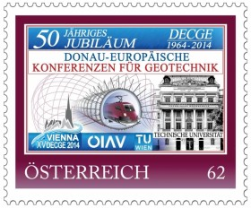 Postage stamps for the 50th anniversary of the Danube-European Conference on Geotechnical Engineering