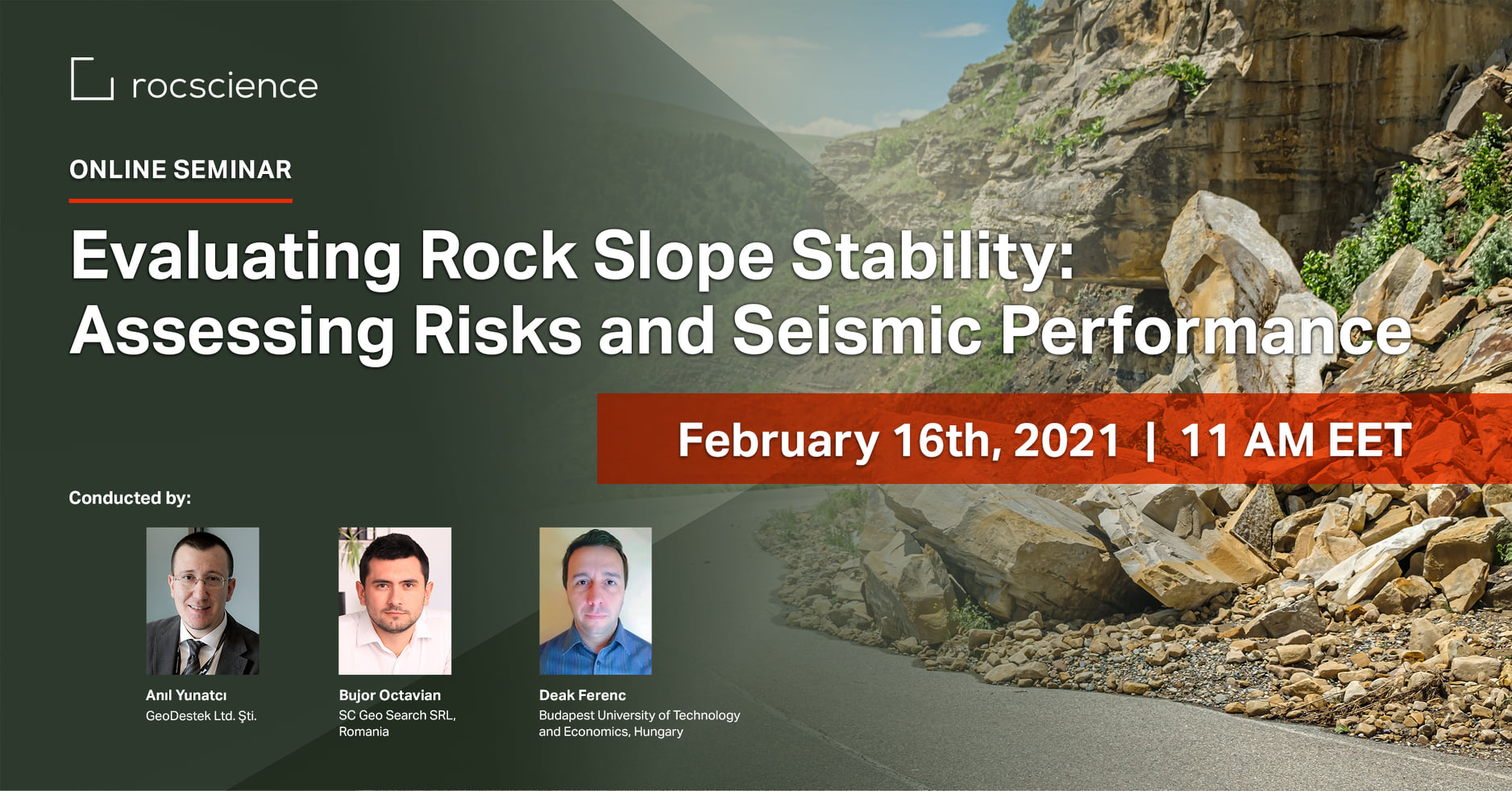 Rocscience Seminar: Evaluating Rock Slope Stability: Assessing Risks and Seismic Performance