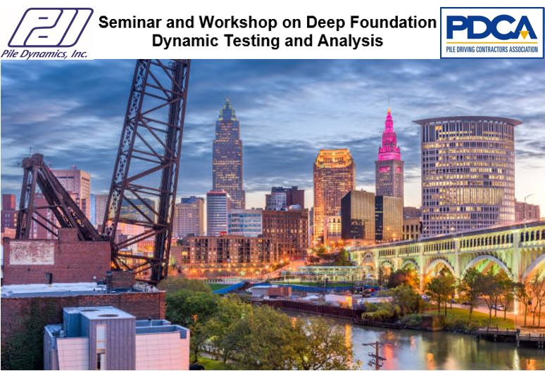 Seminar and Workshop on Deep Foundation Dynamic Testing and Analysis