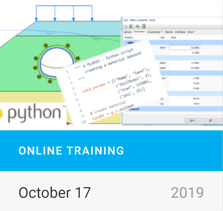 Online Training on Plaxis Automation Part II: Advanced Features and Practical Examples of Python Scripting