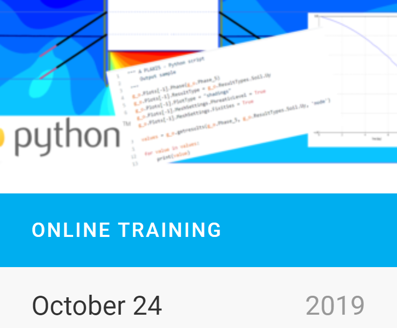 Online Training on Plaxis Automation Part III: Result Post-Processing Automation in PLAXIS Output