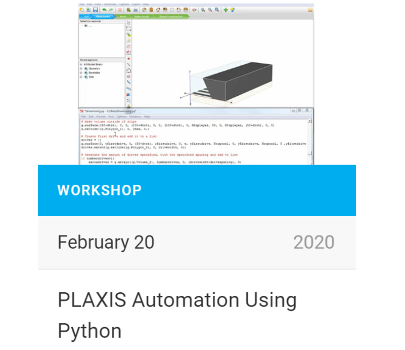 PLAXIS Automation Using Python