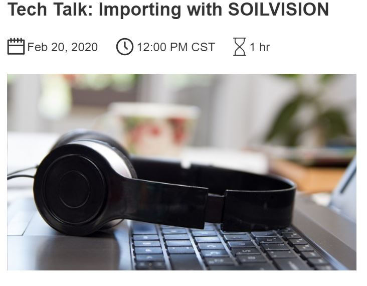 Tech Talk: Importing with SOILVISION