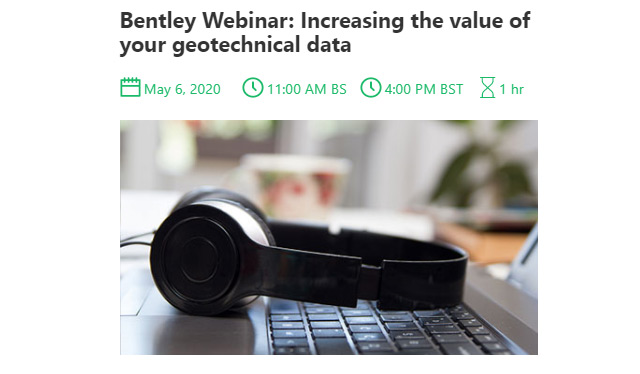 Bentley Webinar: Increasing the value of your geotechnical data