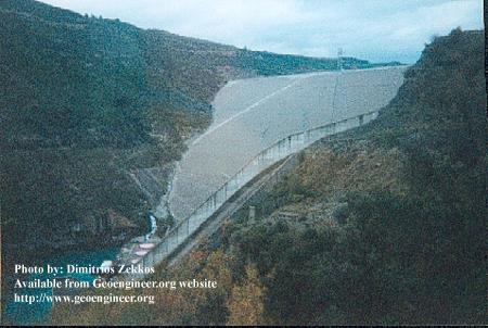 Title: View of Kremasta Dam<br>Title: View of Kremasta Dam, Greece Donated by: D. Zekkos Date: 1999