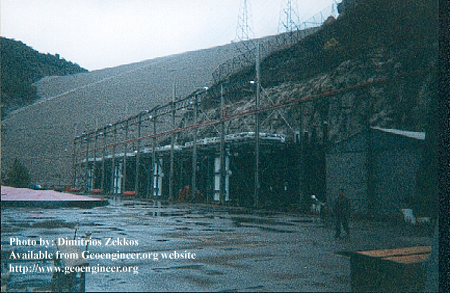 Title: View of the power station of Kremasta Dam<br>Title: View of the power station of Kremasta Dam, Greece Donated by: D. Zekkos Date: 1999