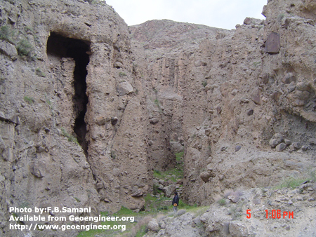 Title: Photo of Bimrocks (Lahar) in the Reservoir of Moshampa<br>Title: Photo of Bimrocks (Lahar) in the Reservoir of Moshampa in Zanjan Province North West of Iran. Donated by: F.B. Samani Date: May 2006