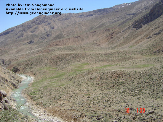 Title: Photo No.2 of debris flow slide along Canal route of Azizabad Mini hpp, near Ardal NW Iran.<br>Title: Photo No.2 of debris flow slide along Canal route of Azizabad Mini hpp, near Ardal NW Iran. 