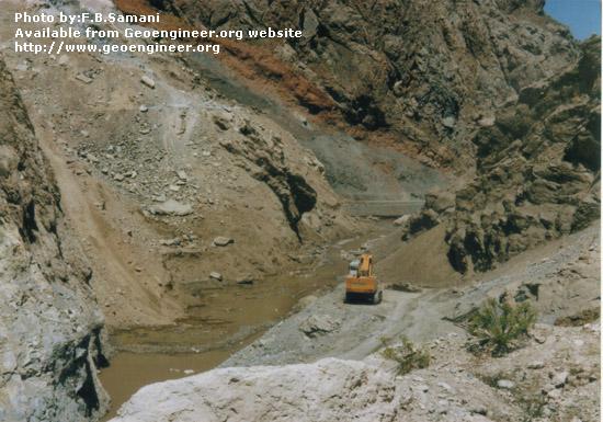 Title: Barun earthfill dam - foundation preparation.<br>Title: Barun earthfill dam of 80m high. The photo shows foundation preparation. Donated by: F.B. Samani Date: December  1994