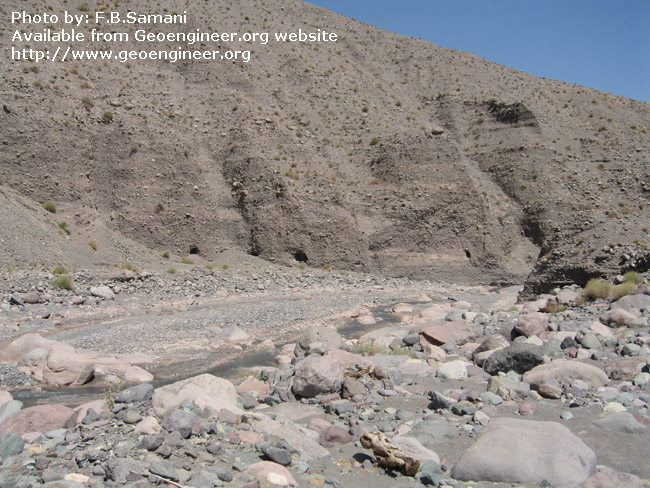 Title: Photo No.11: tunnel intake located at the elevation of the river<br>Title: Photo No.11: illustrates the tunnel intake located at the elevation of the river