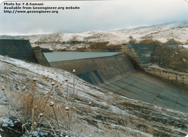 Title: Closer view of the spillway<br>Title: Photo No.2: Closer view of the spillway. Donated by: F.B. Samani Date: February 1997