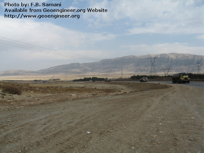 Title: northern continuation of the Dasht a??e a?? Arjan fault scarp<br>Title: northern continuation of the Dasht a??e a?? Arjan fault scarp
