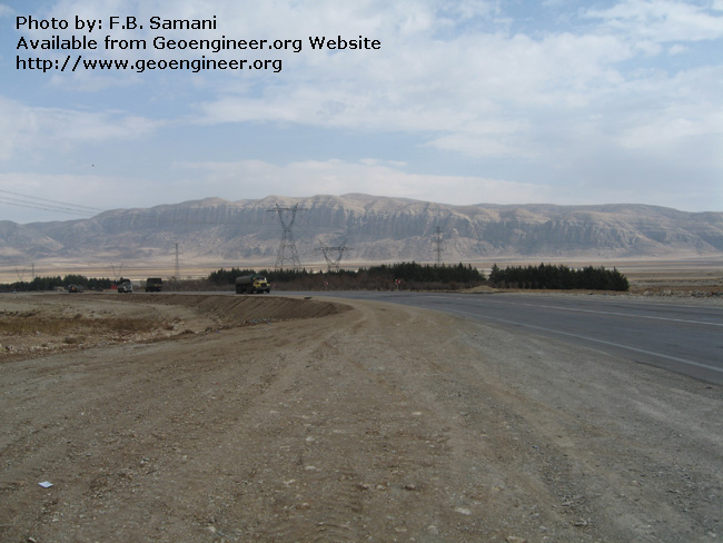 Title: northern continuation of the Dasht a??e a?? Arjan fault scarp<br>Title: northern continuation of the Dasht a??e a?? Arjan fault scarp.