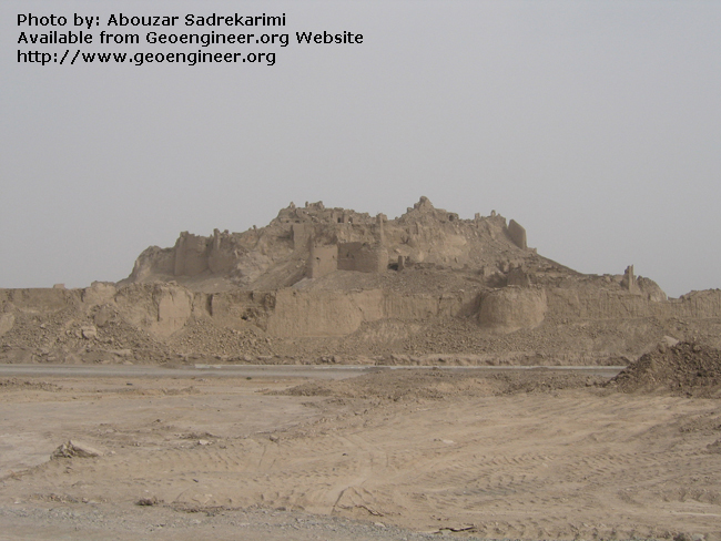 Title: Historical citadel of Arg-e-Bam<br>Title: Historical citadel of Arg-e-Bam after Bam 2003 earthquake (Mw = 6.3; death toll of about 26000), Bam City, Iran.