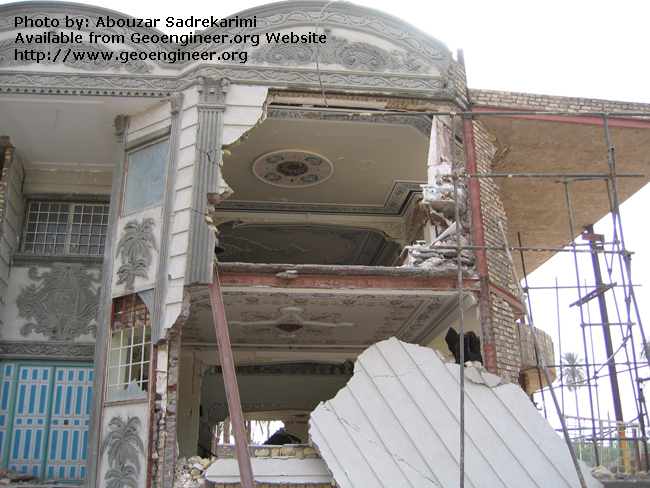 Title: Damage to a luxury building<br>Title: Damage to a luxury building, Bam City, Iran.