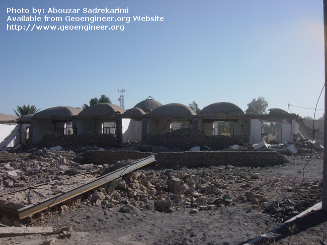 Title: Dome roof of adobe houses<br>Title: Dome roof of adobe houses in the city of Bam. This also indicates the stability of dome-shaped roofs, Bam City, Iran.