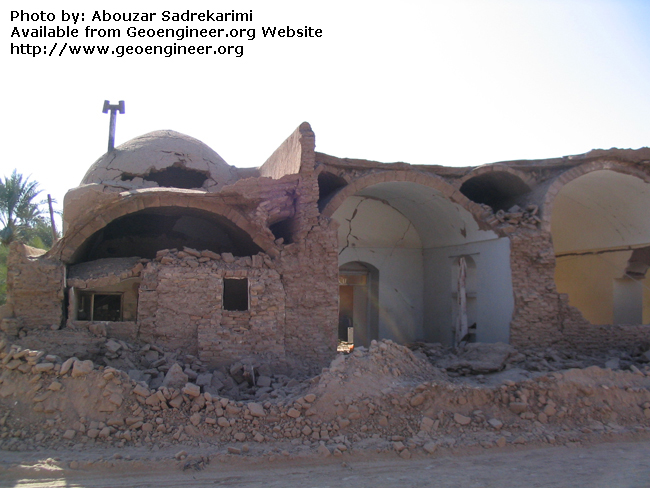 Title: Dome roof of adobe house<br>Title: Dome roof of adobe house in the city of Bam, Iran.