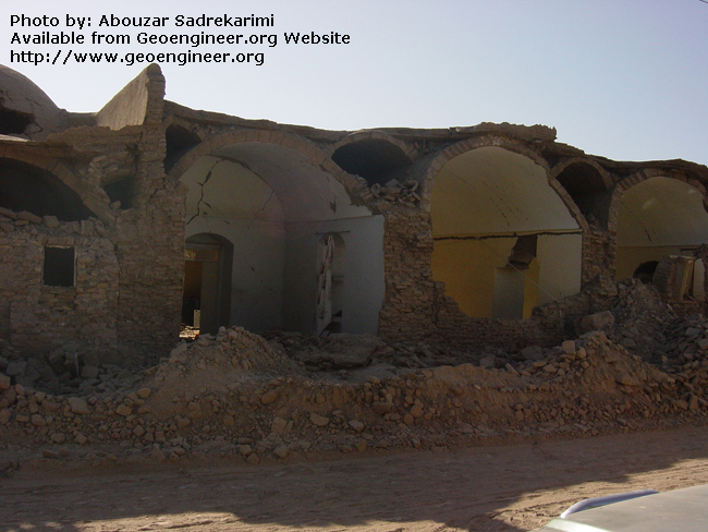 Title: Stable dome roof of adobe house<br>Title: Stable dome roof of adobe house in the city of Bam, Iran.