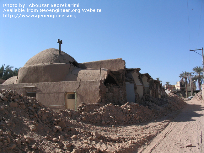 Title: More stable dome roof of adobe houses<br>Title: More stable dome roof of adobe houses in the city of Bam, Iran.