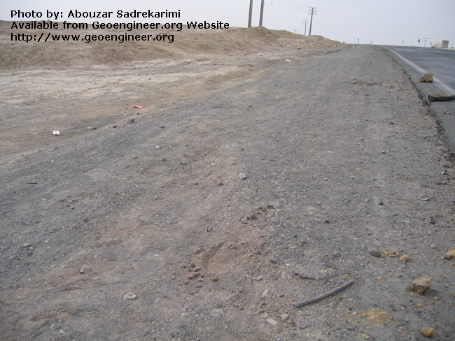 Title: Trace of Bam Earthquake fault<br>Title: Trace of Bam Earthquake fault, Bam City, Iran.