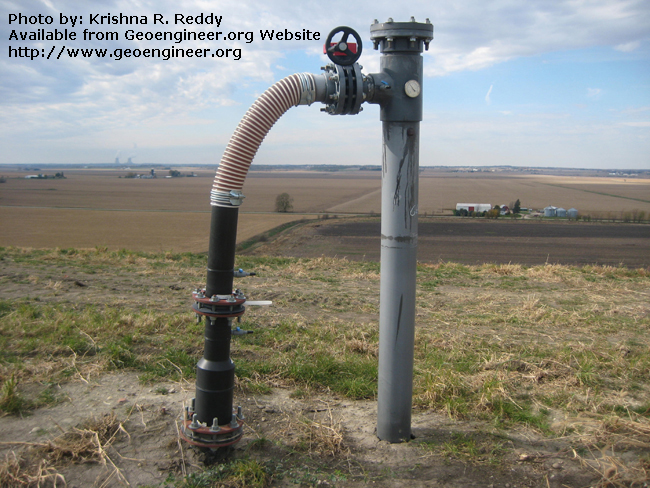 Title: Landfill Gas Extraction well<br>Title: Landfill Gas Extraction well