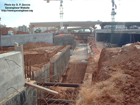 Title: Photo #1 of deep supported excavation in Attiki Odos, Greece<br>Title: Photo #1 of deep supported excavation in Attiki Odos, Greece