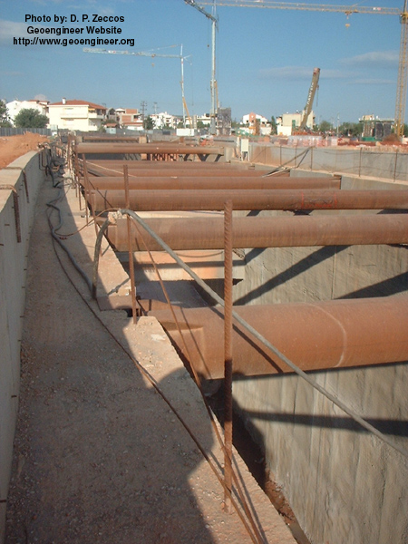 Title: Photo #3 of deep supported excavation in Attiki Odos, Greece<br>Title: Photo #3 of deep supported excavation in Attiki Odos, Greece
