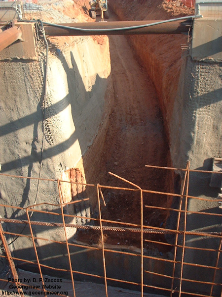Title: Photo #6 of deep supported excavation in Attiki Odos, Greece<br>Title: Photo #6 of deep supported excavation in Attiki Odos, Greece