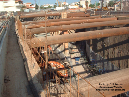 Title: Photo #7 of deep supported excavation in Attiki Odos, Greece<br>Title: Photo #7 of deep supported excavation in Attiki Odos, Greece