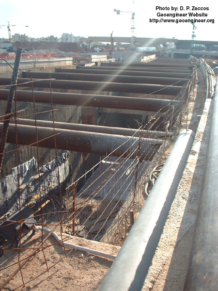 Title: Photo #10 of deep supported excavation in Attiki Odos, Greece<br>Title: Photo #10 of deep supported excavation in Attiki Odos, Greece
