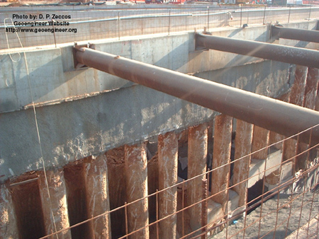 Title: Photo #12 of deep supported excavation in Attiki<br>Title: Photo #12 of deep supported excavation in Attiki 