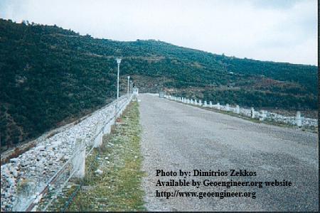 Title: View of the crest of Kremasta Dam, Greece.<br>Title: View of the crest of Kremasta Dam, Greece. Donated by: D. Zekkos Date: 1999