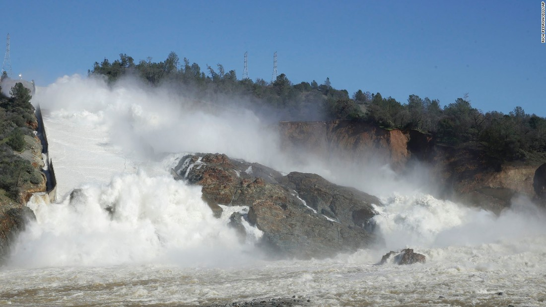 Damage to California's Oroville Dam forces mass evacuation under the