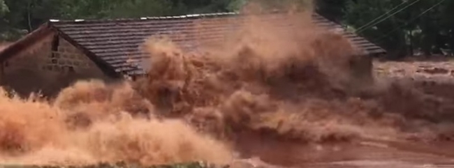 Dam collapse in Paraguay causes major flooding (video)