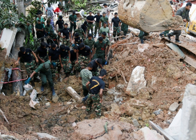 Garbage dump collapse in Sri Lanka kills at least 28 people