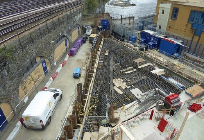 Innovative piled raft foundation scheme used on building project in