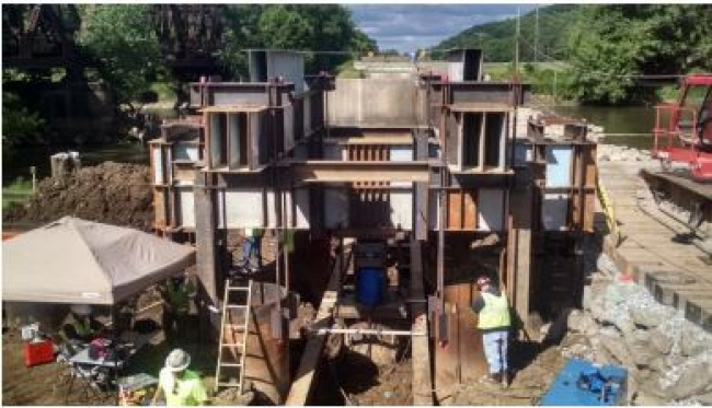 Static and Dynamic Load Testing of Large Diameter Pipe Piles