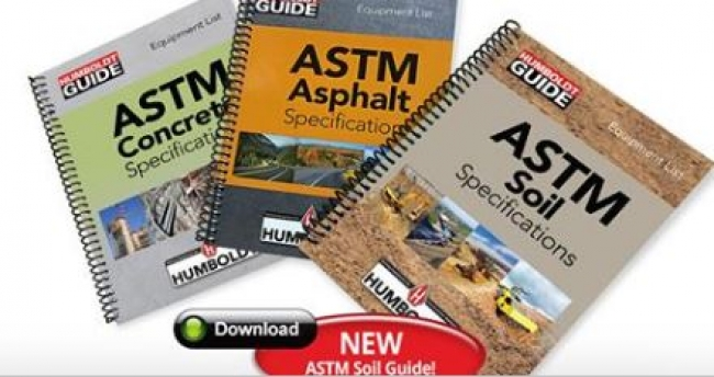 Helpful guides for determining what equipment you will need for specific ASTM tests.