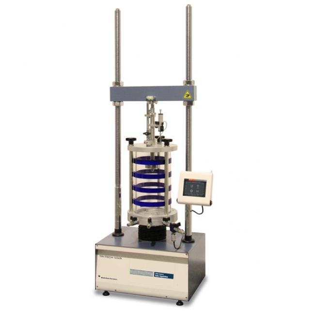 Electro-mechanical TRITECH machines for triaxial tests
