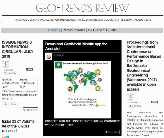 """Geo-Trends Review"" fourth  issue is published!"