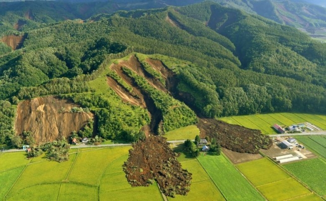 Co-seismic landslides triggered in North Japan
