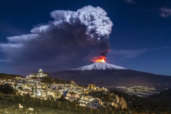 Mount Etna is sliding into the Mediterranean sea