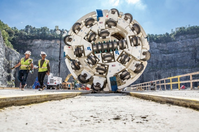 TBM breaks through very hard rock on Atlanta water tunnel