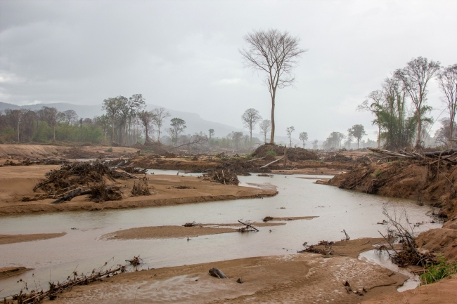 Deforestation of protected forests after Laos dam collapse