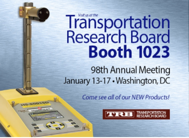 Meet Humboldt's NEW Products at the Transportation Research Board