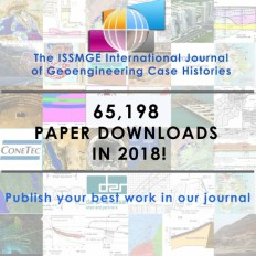 65,198 paper downloads in 2018 for the ISSMGE International Journal of Geoengineering Case Histories!