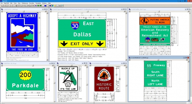 SignCAD traffic sign design software is used by 43 state departments of transportation in the U.S.