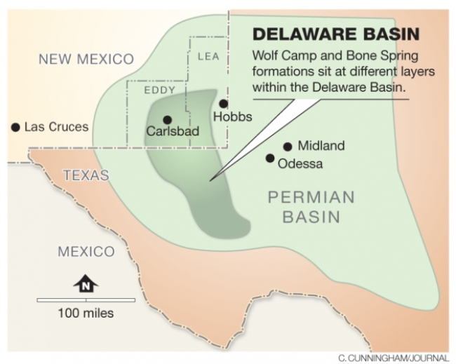 Continuous oil and natural gas resources found in Texas and New Mexico