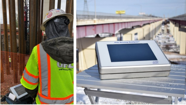 Dynamic and Static Load Testing at Valley View Bridge Project