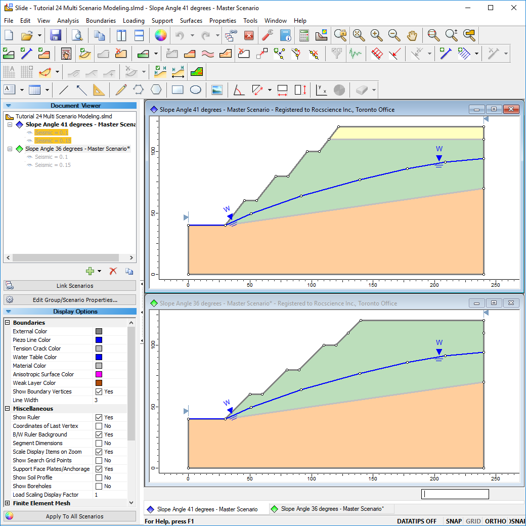 Model different scenarios in one file for easy file management.